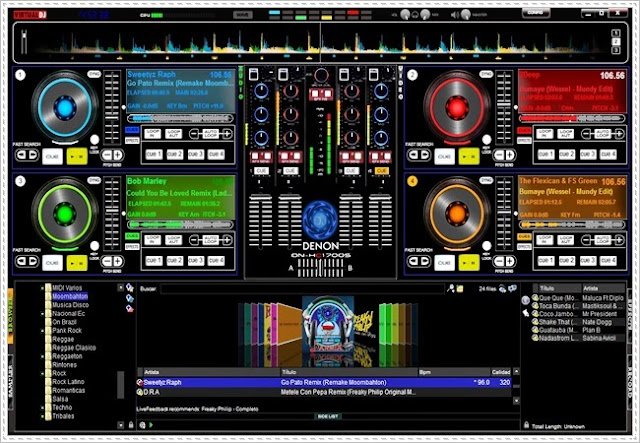 Skin Denon MC2000 4 Decks Virtual DJ | Siver Game Virtual Dj Skins Denon