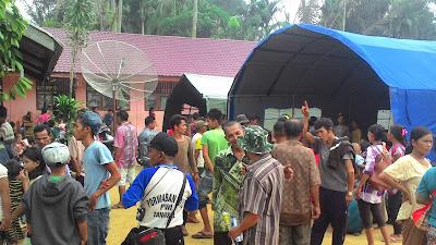pengungsi akibat pembakaran gereja di aceh singkil