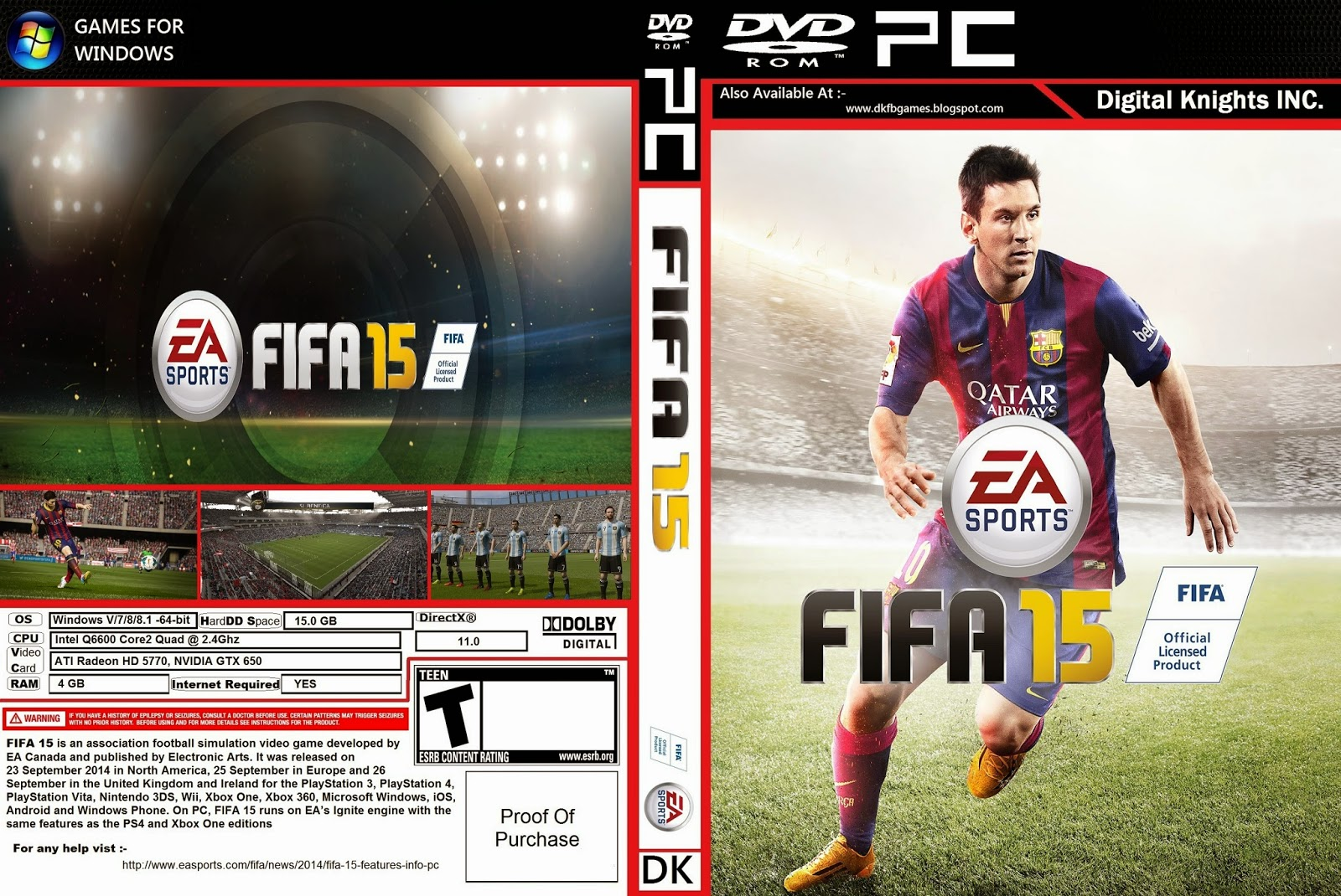 Digital Knights, Inc.: FIFA 15 (PC) Download free Torrent file.