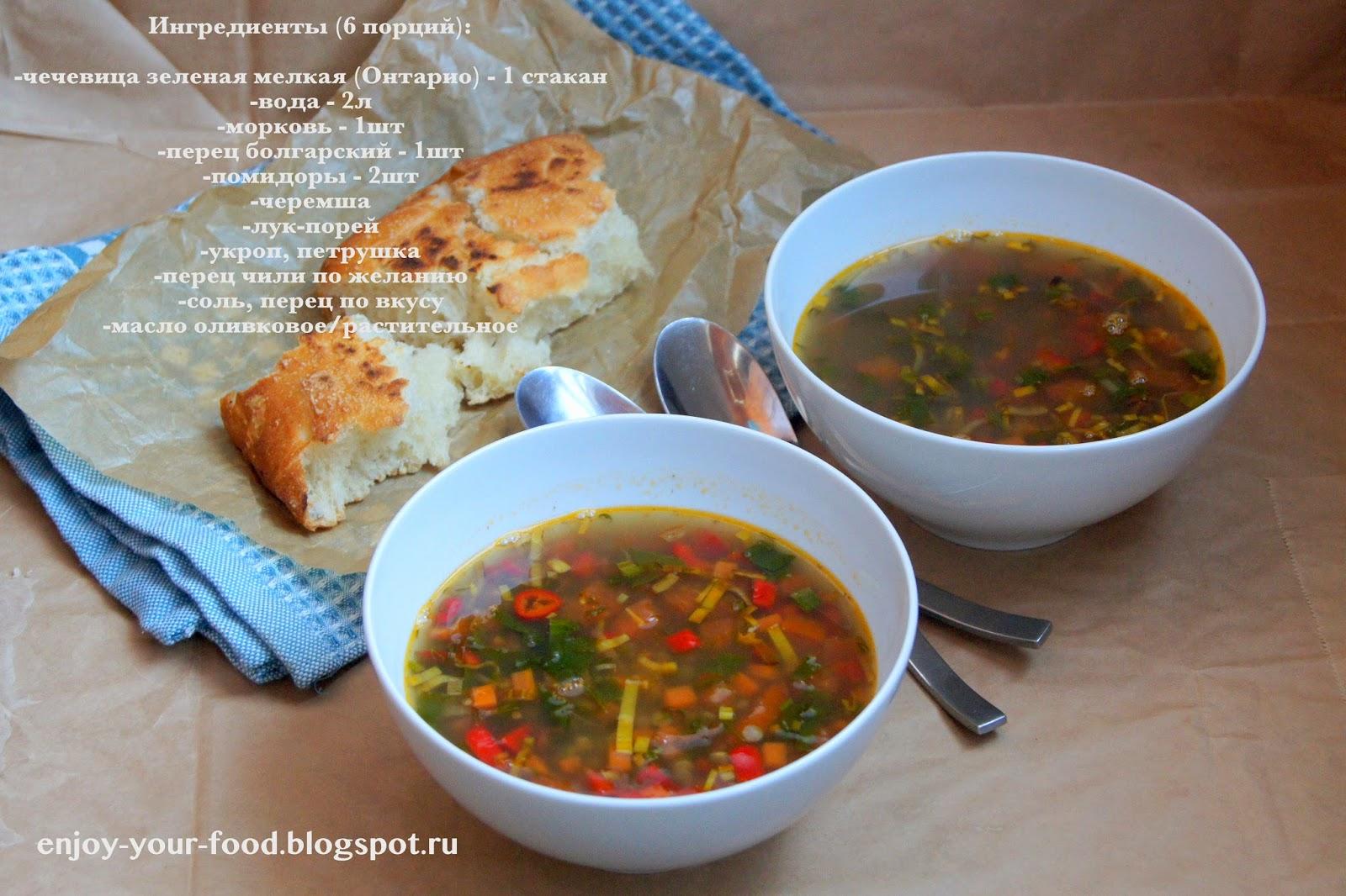 Суп из зелёной чечевицы рецепт пошагово с