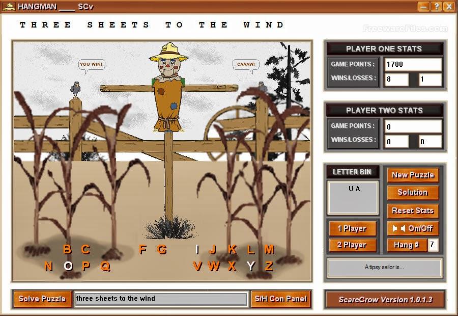 صورة من داخل اللعبة Hangman