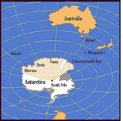 Rick potvins virtual circumnavigation of antarctica to decide if now lets take a look at mawson from the point of view of my best flat earth map the map is rotated so study it for a few minutes to get your gumiabroncs Choice Image