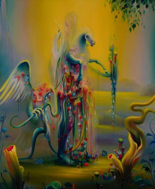 michael page pinturas surreais psicodélicas oníricas cores tintas lisérgicas