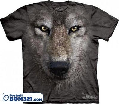 T-Shirt Design Muka Haiwan