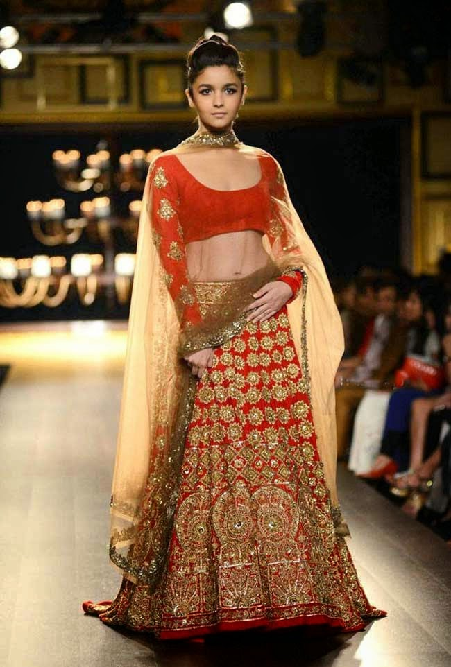 Actress Alia Bhatt at India Couture Week 2014