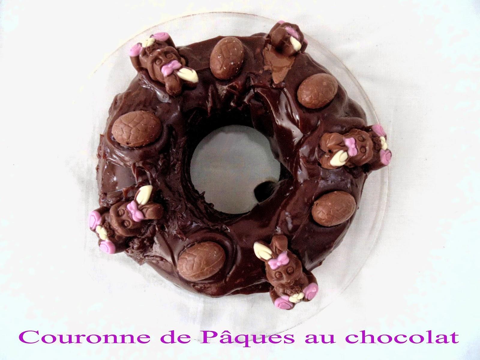 gateau gaga love cakes couronne de p ques au chocolat sans oeuf. Black Bedroom Furniture Sets. Home Design Ideas