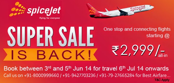 Spicejet Super Sale - Best Discounted Airfare