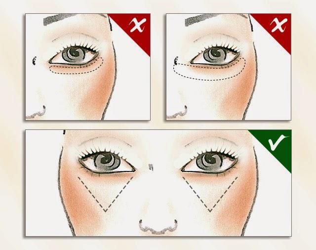 aplicar o corrector de olheiras