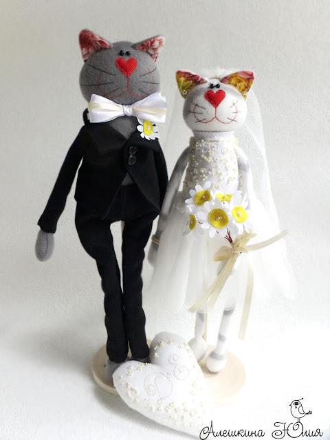 Коты молодожены - свадебный подарок