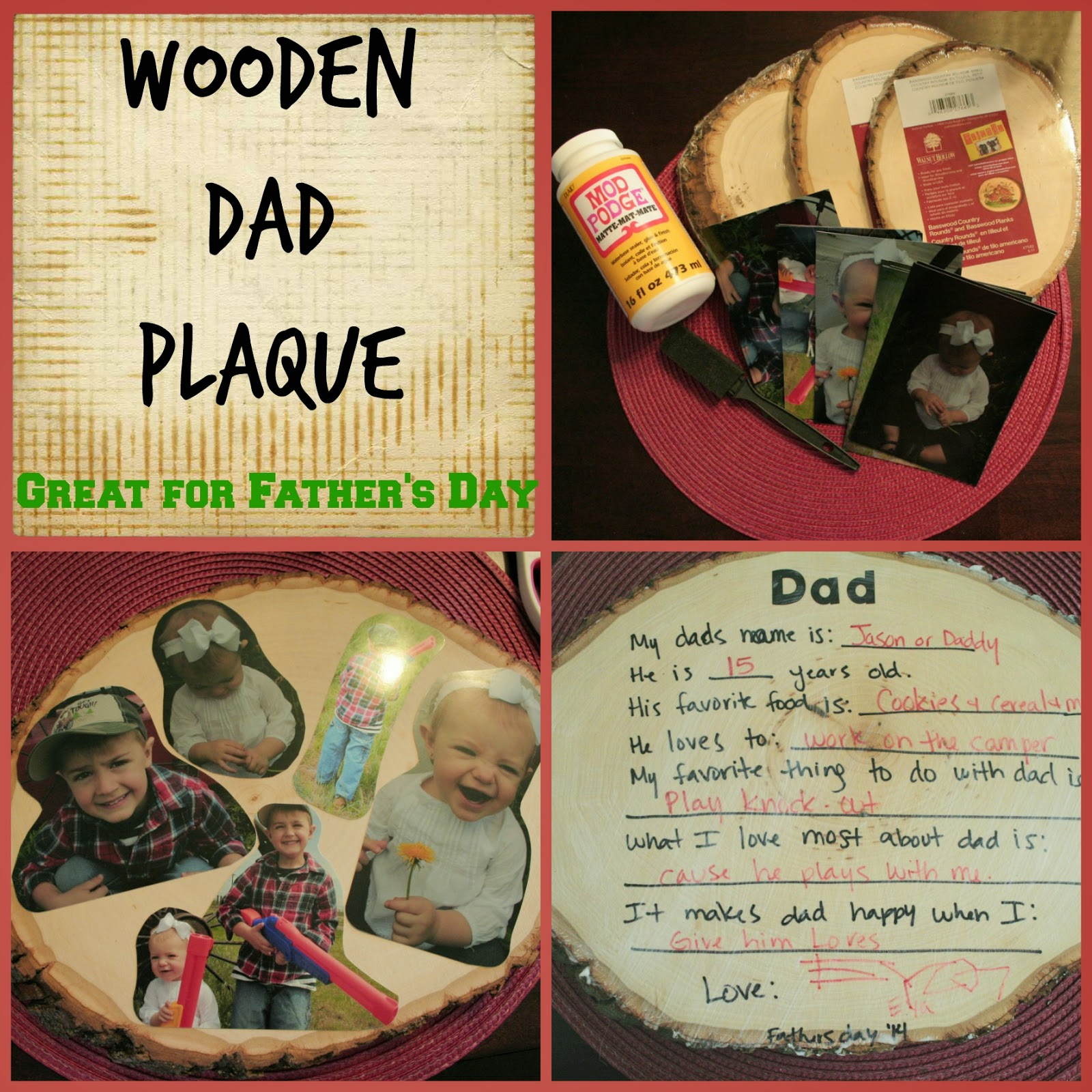 Fathers Day Plaque, Wooden Plaque