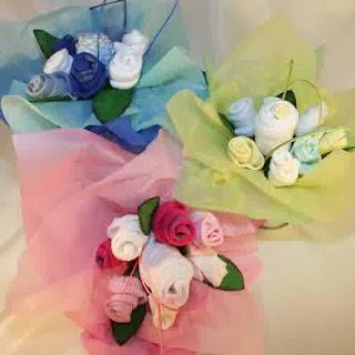 baby shower sock bouquet