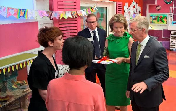 King Philippe And Queen Mathilde Visit VRT