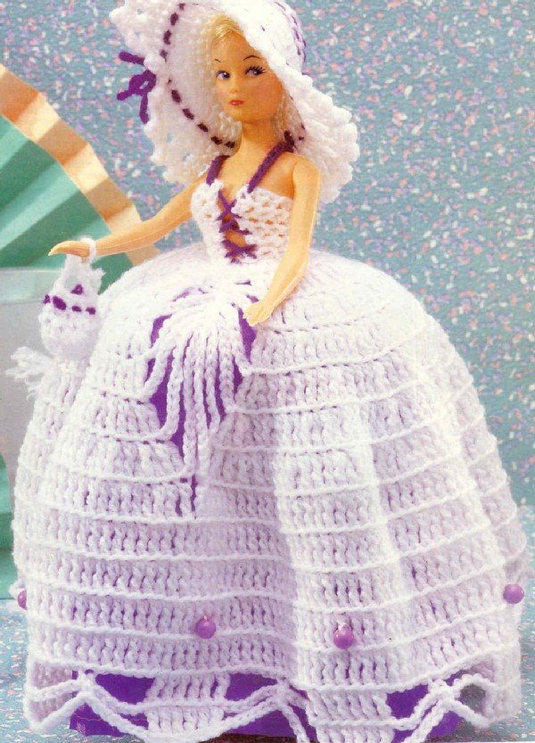 Mundo Crochet: Vestidos de Crochet para la muñeca Barbie