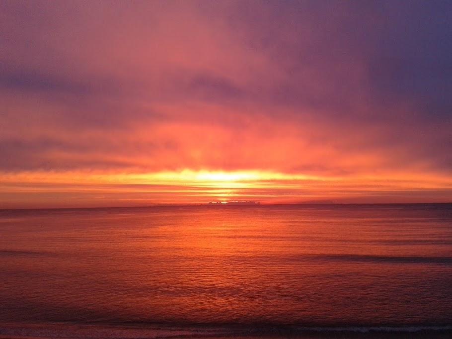 La mer un poquito después de amanecer
