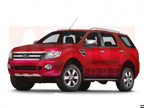 2013, Rendering Ford Everest 2013, SUV Ford Everest, Toyota Fortuner