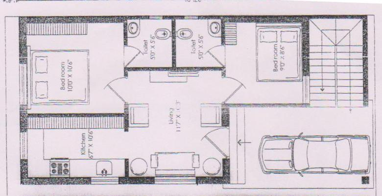 House plan for 20 x 50 site house interior for 50 x 80 apartment plans
