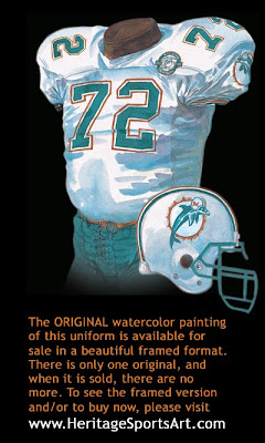 Miami Dolphins 1990 uniform