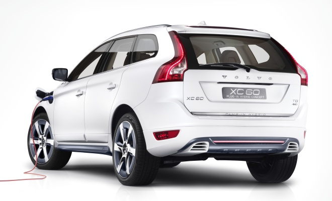 Volvo XC60 Plug-in Hybrid from the rear