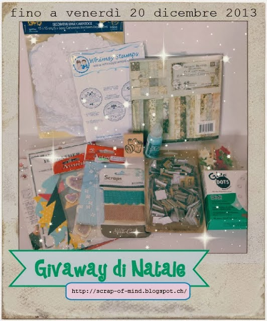 partecipo al giveaway di SCRAP OF MIND