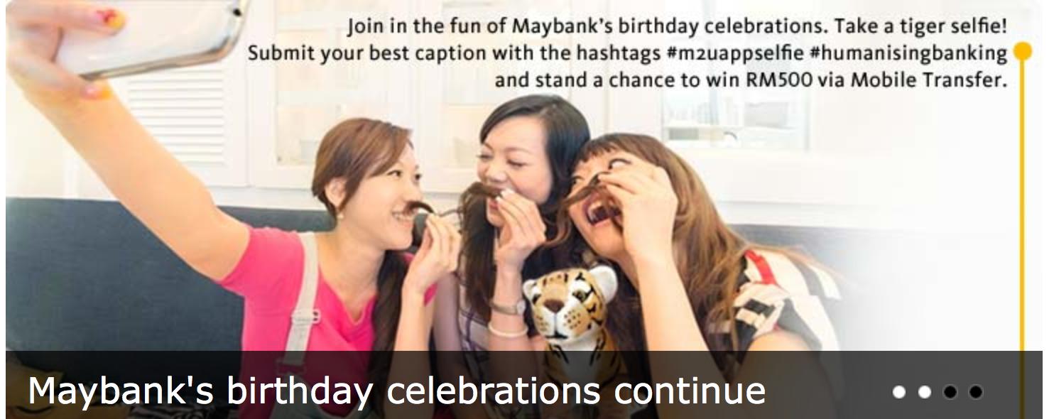 Maybank's selfie contest