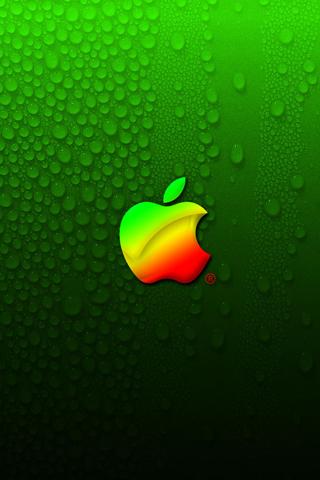 Download Green Apple iphone wallpaper