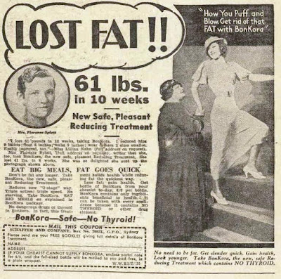 vintage 30s ad about losing  weight
