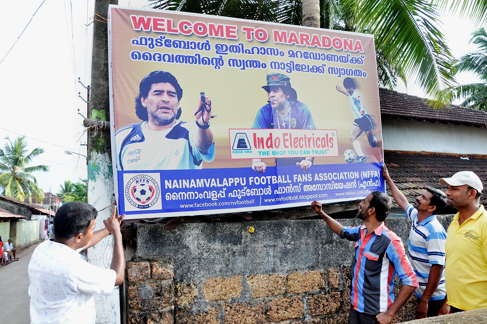Image result for world cup flex board kerala