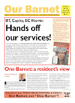 """Our Barnet"" newspaper: BT, Capita, EC Harris: hands off our services!"
