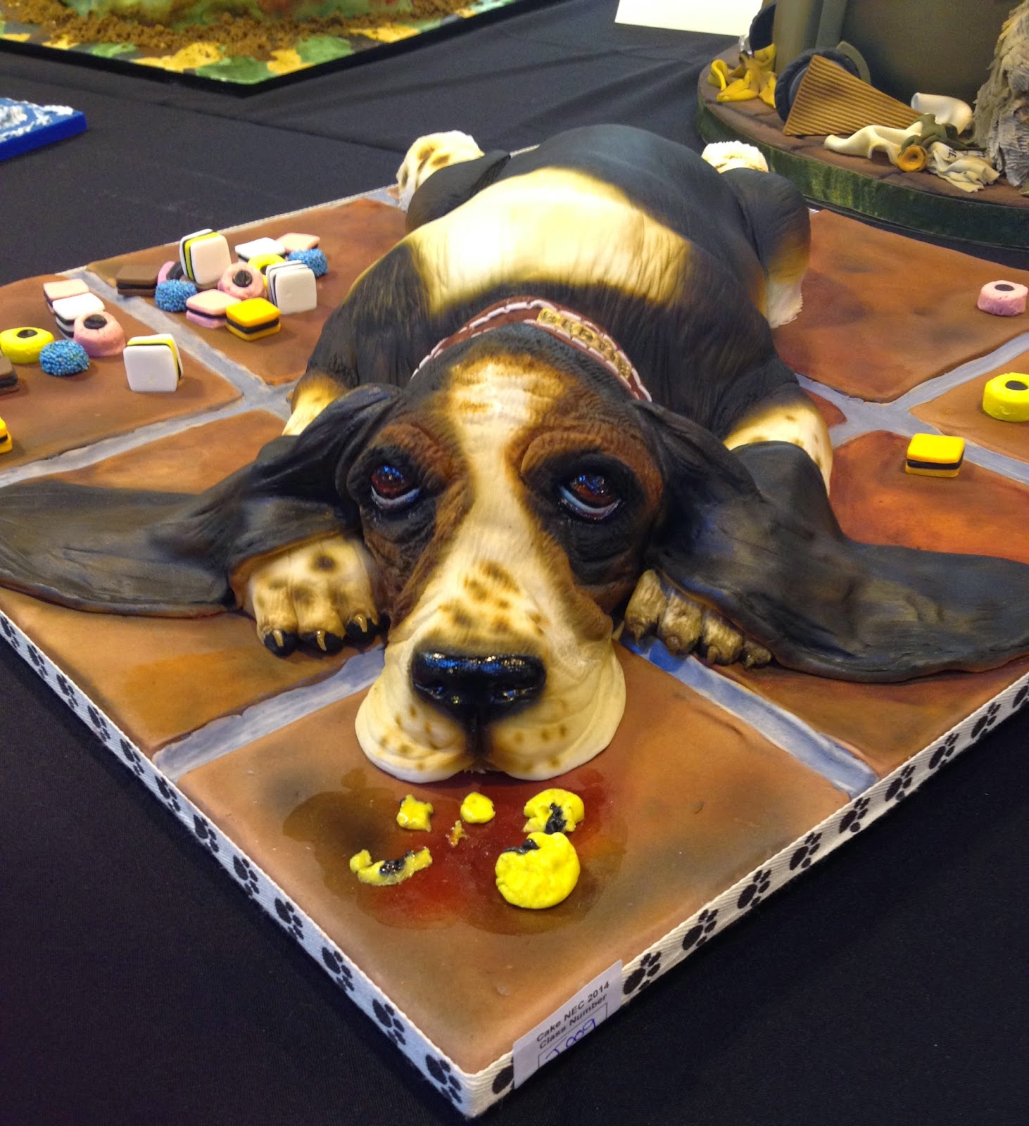 Dog Cake with sweets