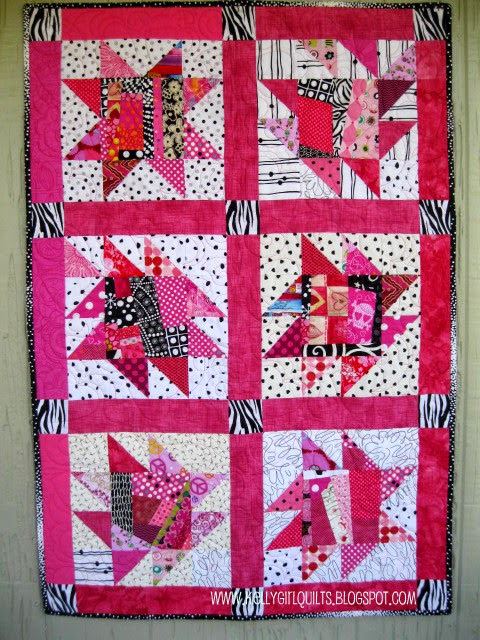Kelly Girl Quilts: Jacobi Quilt Finish AKA Pink and Zebra Quilt