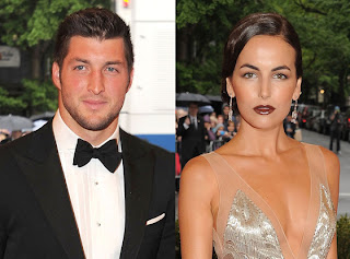 Sports players tim tebow with his girlfriend camilla belle 2013