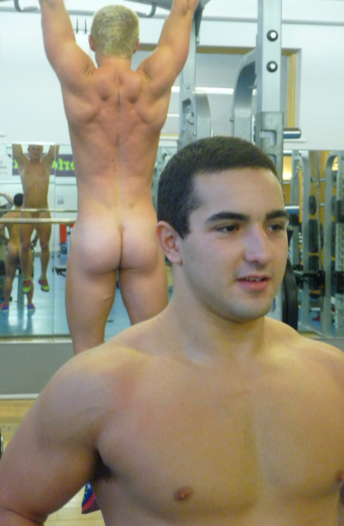naked young rugby players
