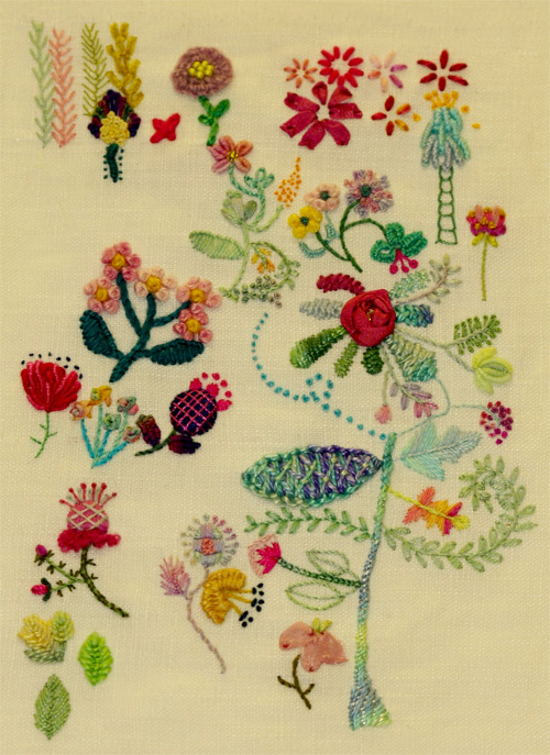 doodle flowers, doodle stitching, doodle embroidery, doodle ideas