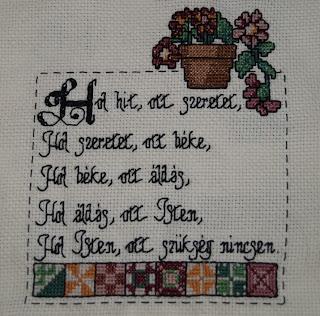 keresztszemes házi áldás foltvarróknak, patchwork