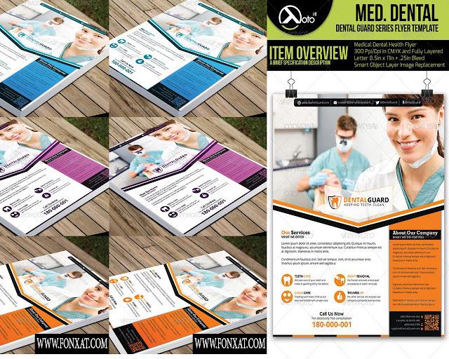 Flyer medical psd فلاير طبى مفتوح المصدر رقم 2