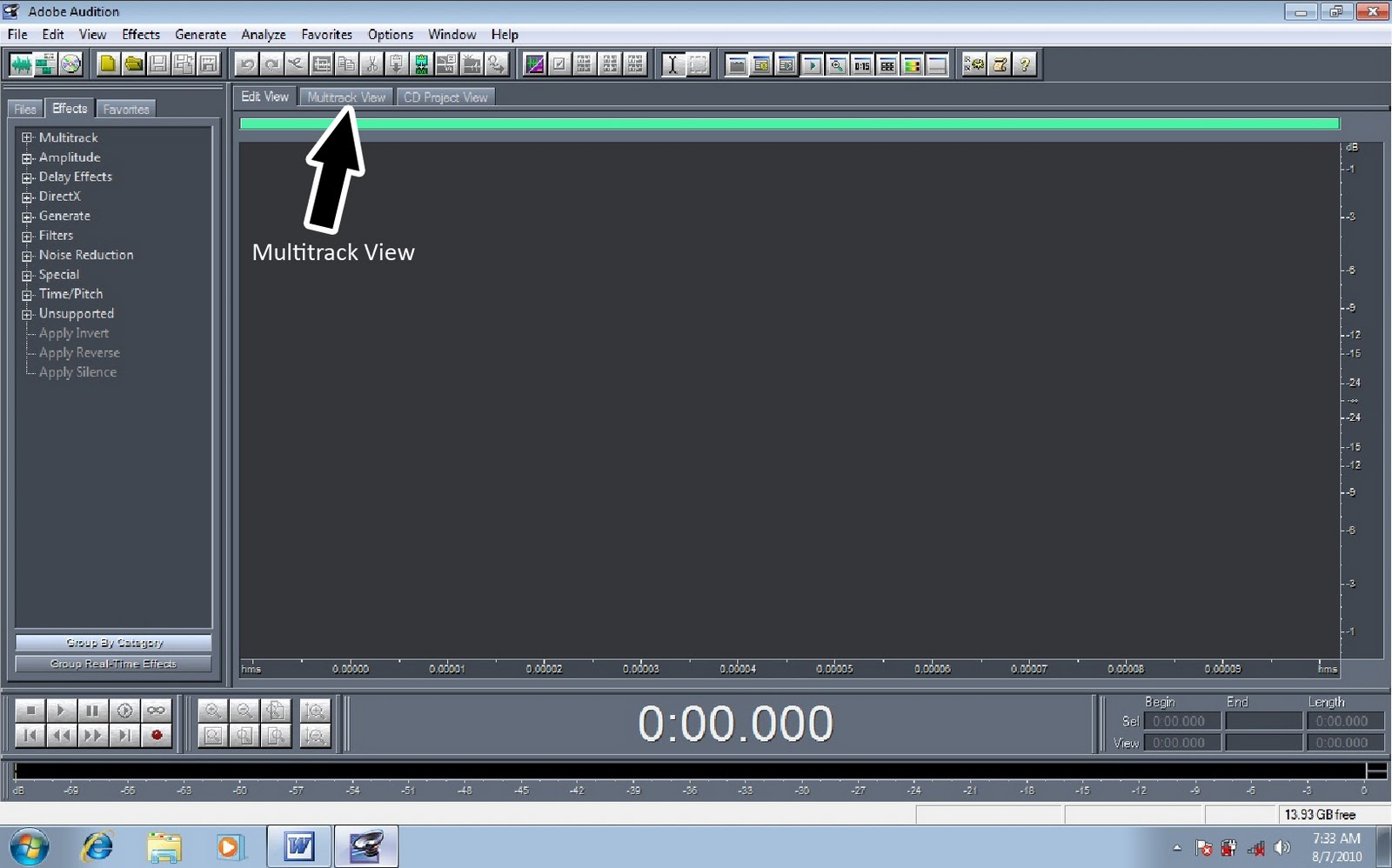 how to open flac files in adobe audition