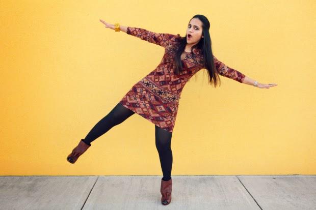 Forever 21 Full Sleeved Dress, Dolce Vita Boots, Tanvii.com