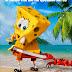 Primer Afiche de Bob Esponja un Heroe Fuera del Agua
