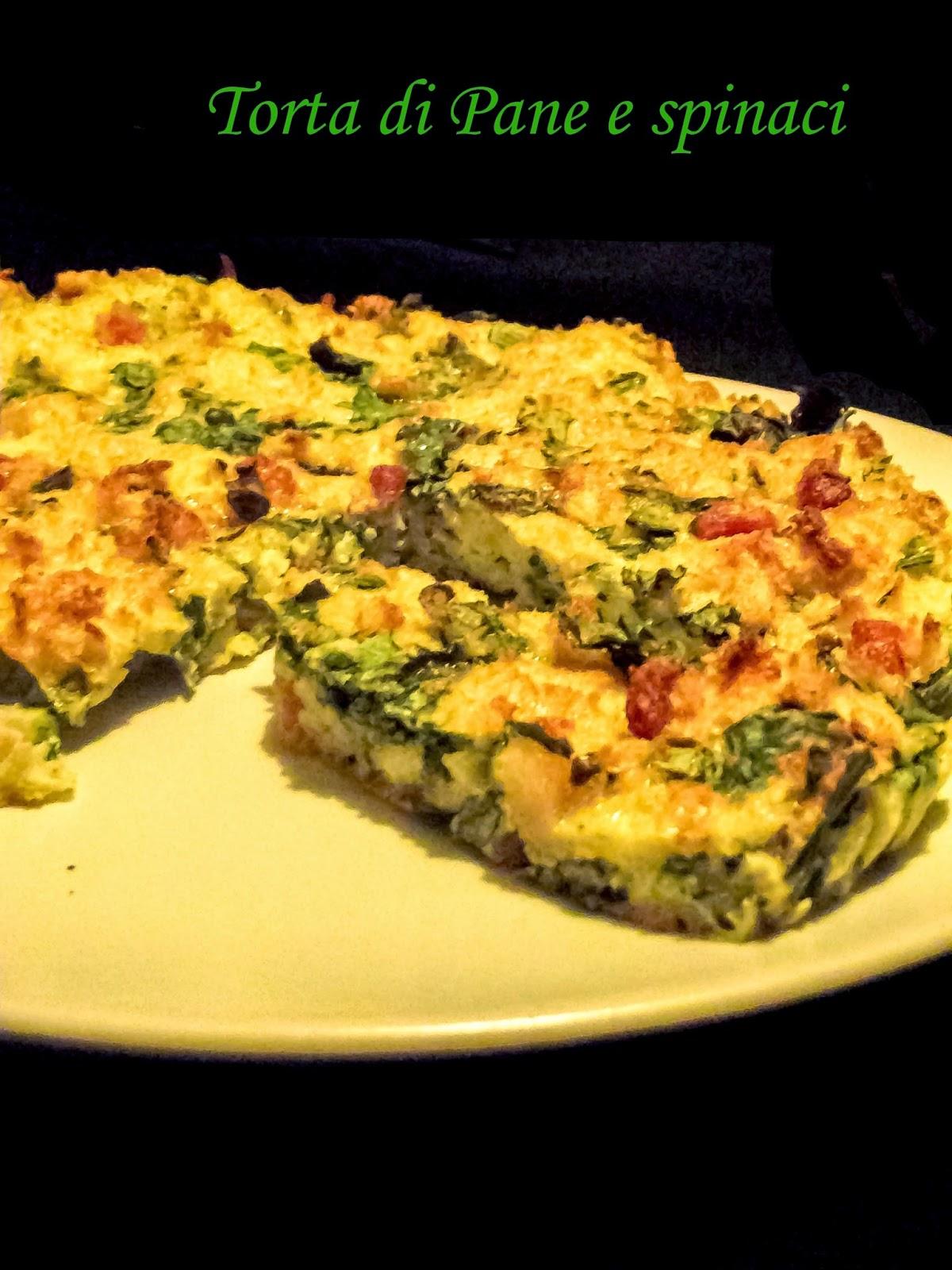 torta di pane e spinaci...la sfida della cucina degli avanzi