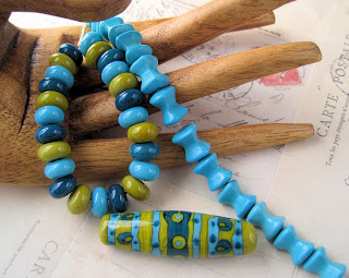 Lampwork glass beads by Juli Cannon of Studio Juls