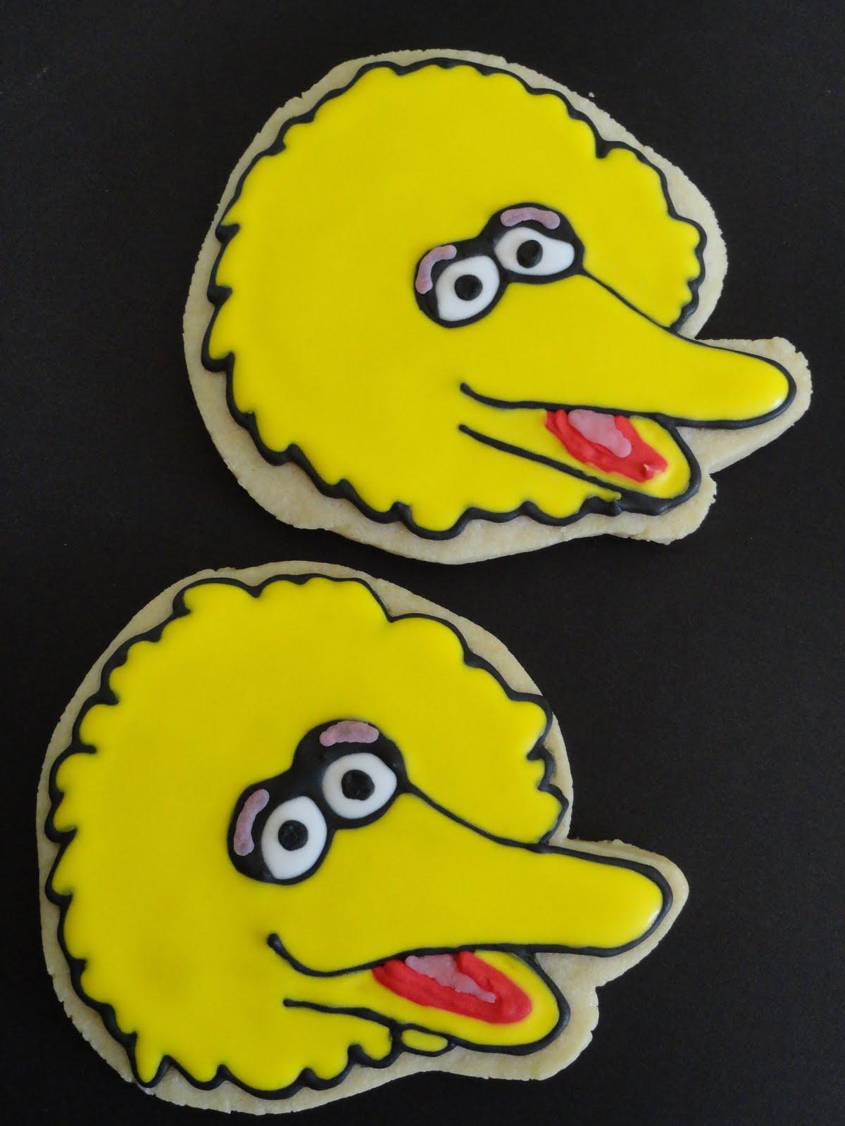 My Pink Little Cake Sesame Street Cookies Oscar Big Bird