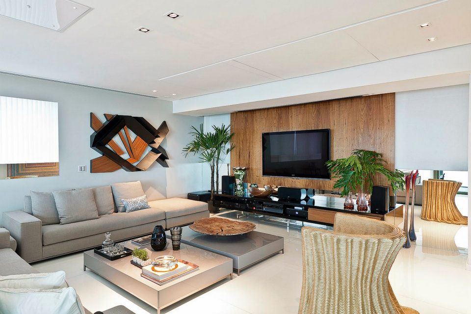 Sala De Luxo Com Tv ~ SALA DE ESTAR X HOME THEATER  Papo de Design