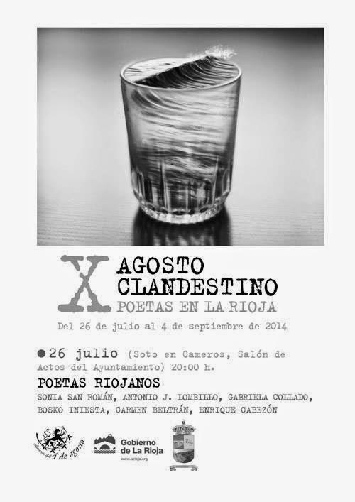 Agosto Clandestino: Poetas en La Rioja. Inauguración. 26 de julio. Soto en Cameros.