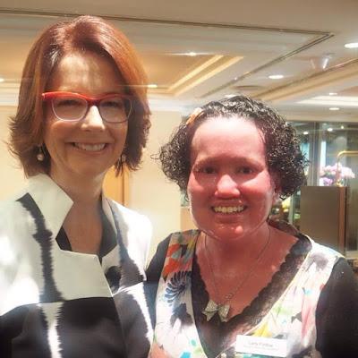 Julia Gillard and Carly Findlay
