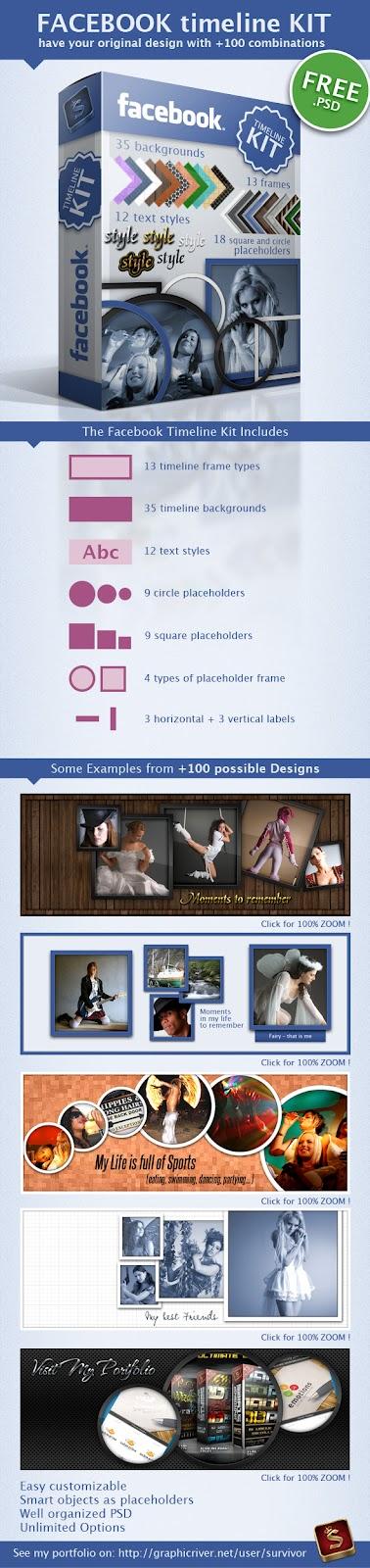 Facebook Timeline Cover Designs KIT! Free PSD File!