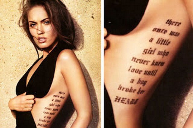 Daily vibes megan fox tattoos for That s my boy tattoo