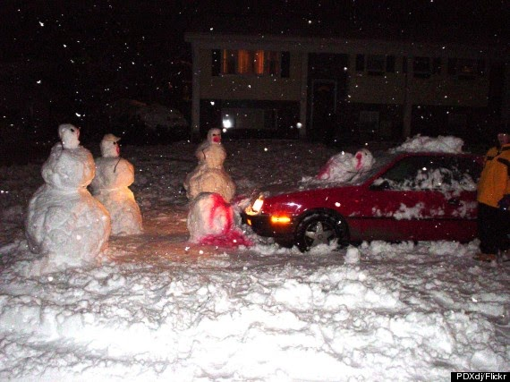 Another snowman homicide. It's a dangerous world out there.