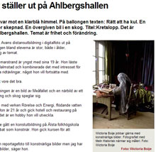 Fotoutstllning p Galleri Ahlbergshallen juni 2011