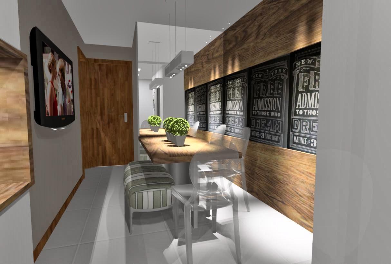 Ideias da Bê!: #COZINHA : uma cozinha com estilo Apto Mata da Praia #8F6C3C 1214 818