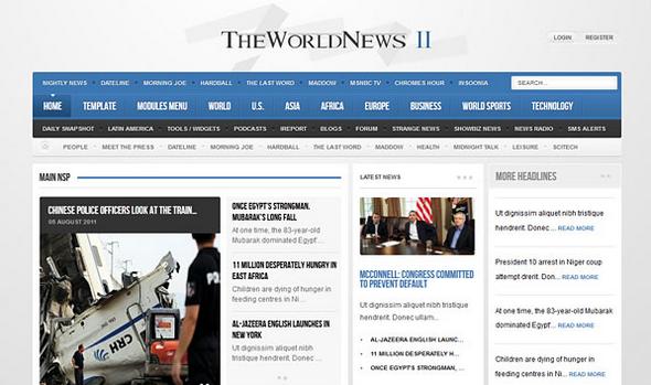 The World News II - Gavick Template v2.15 - Joomla 2.5 Download ...